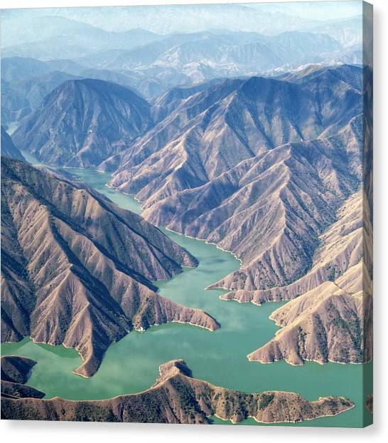 Chixoy Reservoir, Guatemala Canvas Print by Opla