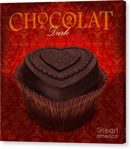 Chocolate Dark Canvas Print