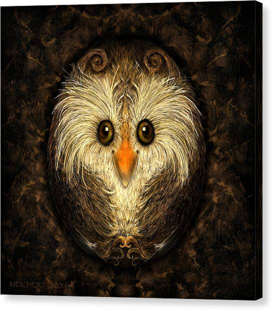 Chocolate Nested Easter Owl Canvas Print