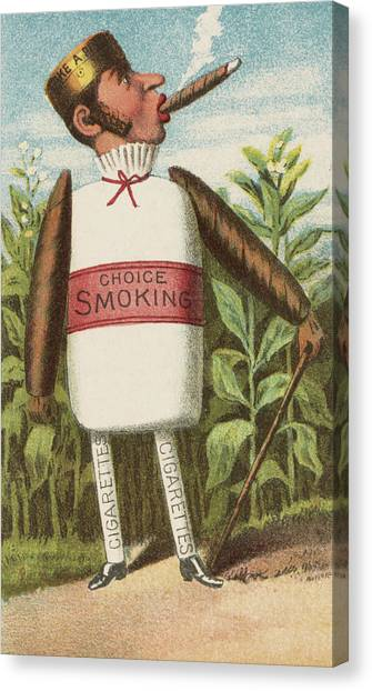 Vegetable Garden Canvas Print - Choice Smoking by Aged Pixel