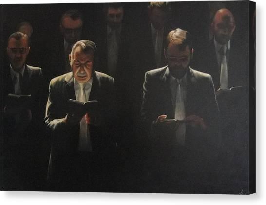 Choir Self Portrait Canvas Print by Clive Holden