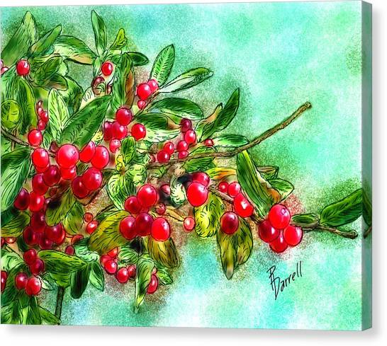 Chokecherry Branch Canvas Print