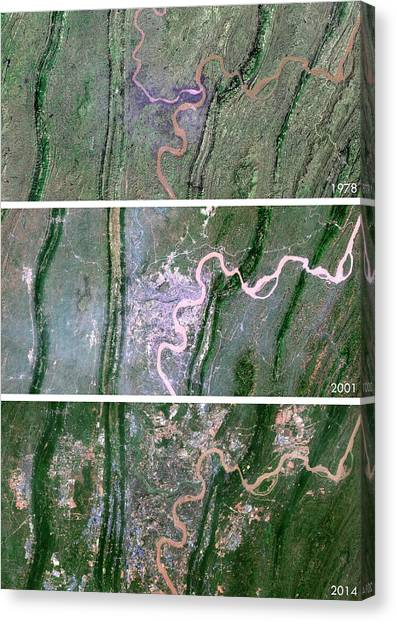 Deforestation Canvas Print - Chongqing Urban Spread by Planetobserver