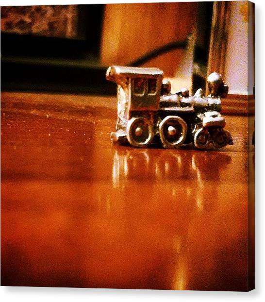 Steam Trains Canvas Print - Choo-choo. #chugga #chug #pewter #train by Kj Willy
