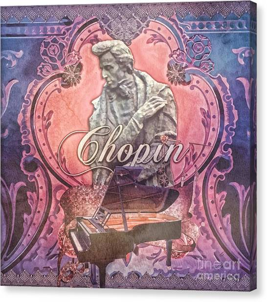 Statue Portrait Canvas Print - Chopin by Mo T
