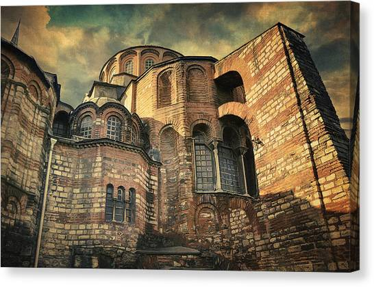 Byzantine Art Canvas Print - Chora Church by Zapista