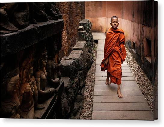 Monks Canvas Print - Chosen Path by Ali Khataw