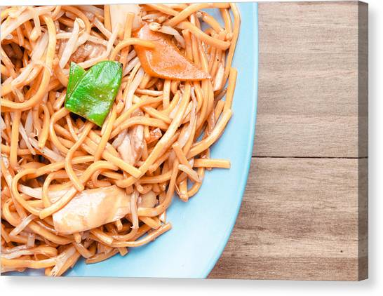 Chinese Restaurant Canvas Print - Chow Mein by Tom Gowanlock
