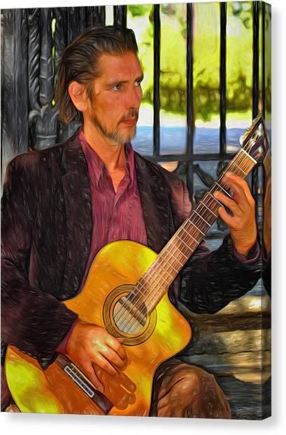 Classical Guitars Canvas Print - Chris Craig - New Orleans Musician 2 by Steve Harrington