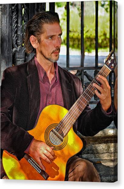 Classical Guitars Canvas Print - Chris Craig - New Orleans Musician by Steve Harrington