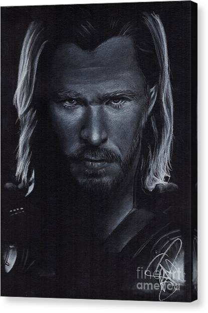 Chris Hemsworth Canvas Print by Rosalinda Markle
