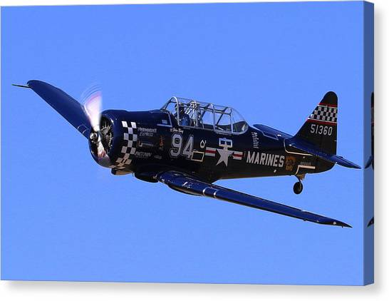 Chris Lefave In His North American Snj-4 Midnight Express At Reno Air Races  Canvas Print