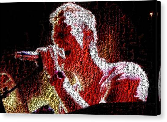 Chris Martin - Montage Canvas Print