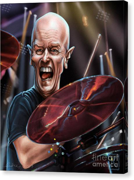 Ac Dc Canvas Print - Chris Slade by Andre Koekemoer