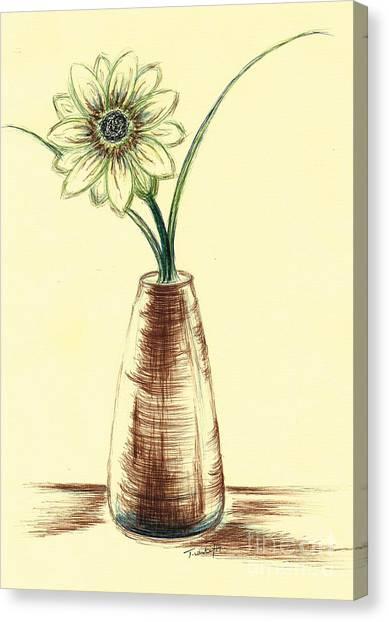 Chrysanthemum Flower Canvas Print