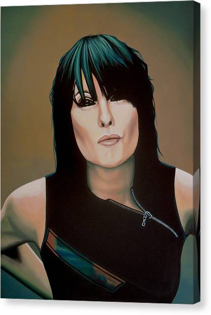 Brass Canvas Print - Chrissie Hynde Painting by Paul Meijering