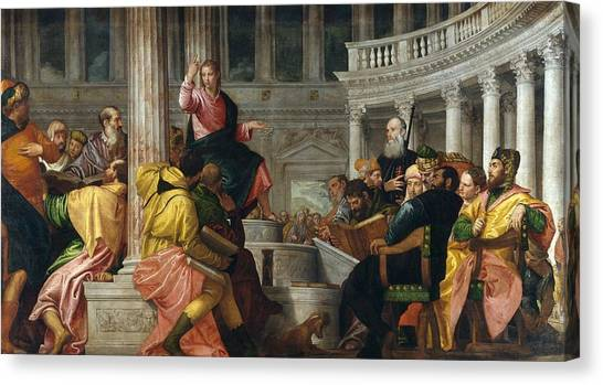 The Prado Canvas Print - Christ Among The Doctors In The Temple by Paolo Veronese