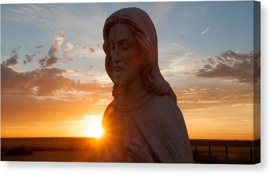 Christ And Sun Canvas Print