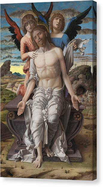 Messiah Canvas Print - Christ As The Suffering Redeeme4 by Andrea Mantegna
