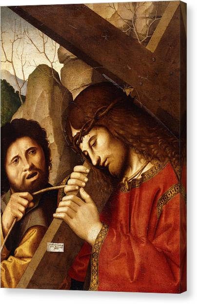 Messiah Canvas Print - Christ Carrying The Cross by Marco Palmezzano