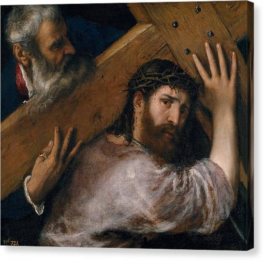 The Prado Canvas Print - Christ Carrying The Cross by Titian