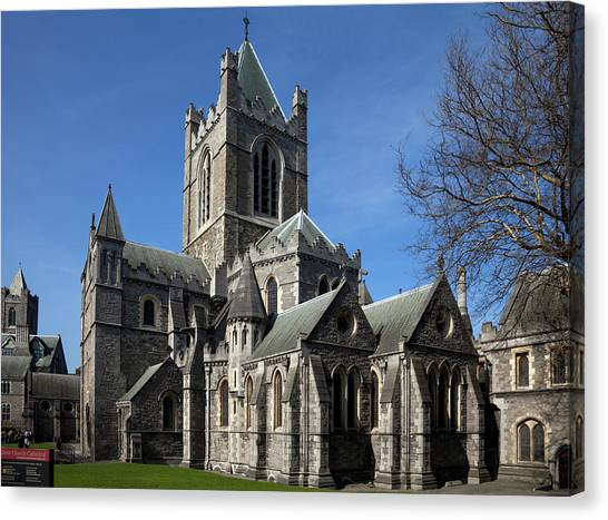 Old Christ Church Canvas Print - Christ Church Cathedral, Rebuilt by Panoramic Images