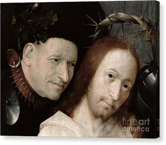 Messiah Canvas Print - Christ Mocked The Crowning With Thorns by Hieronymus Bosch