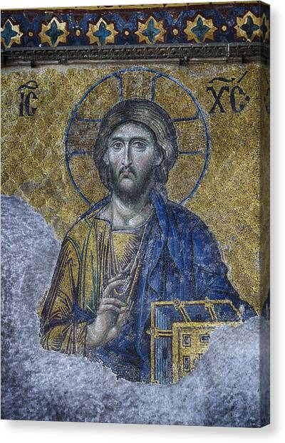 Byzantine Art Canvas Print - Christ Pantocrator IIi by Stephen Stookey
