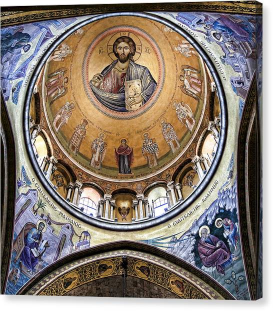 Orthodox Art Canvas Print - Christ Pantocrator -- No.5 by Stephen Stookey