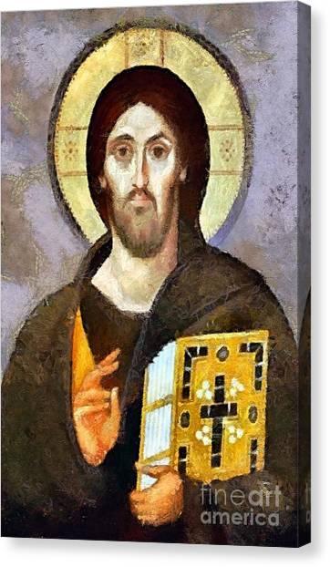 Christ Pantocrator Of Sinai Canvas Print