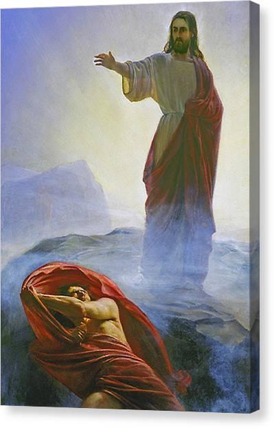 Christ Rebuking Satan Canvas Print