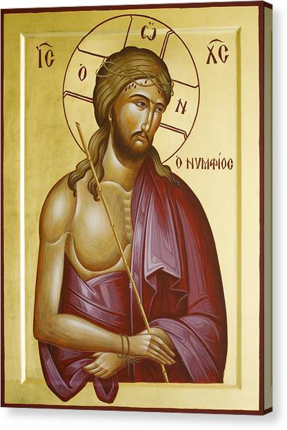 Canvas Print - Christ The Bridegroom by Julia Bridget Hayes