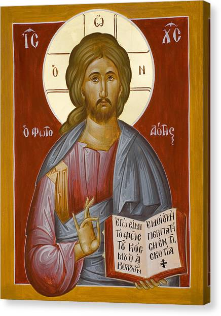 Christ The Light-giver Canvas Print by Julia Bridget Hayes