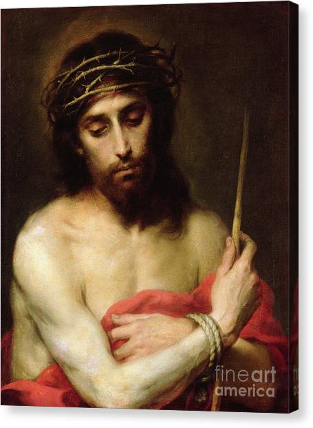 The Crown Canvas Print - Christ The Man Of Sorrows by Bartolome Esteban Murillo