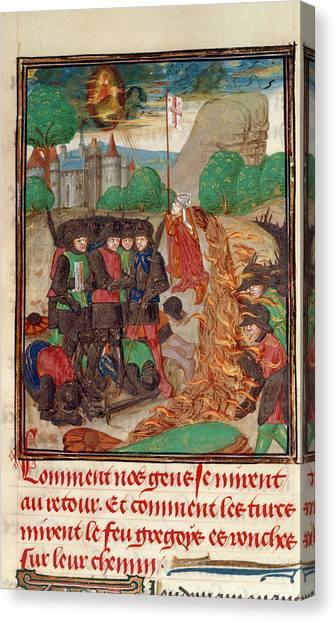 Palestinian Canvas Print - Christian Army Saved By Prayer by British Library