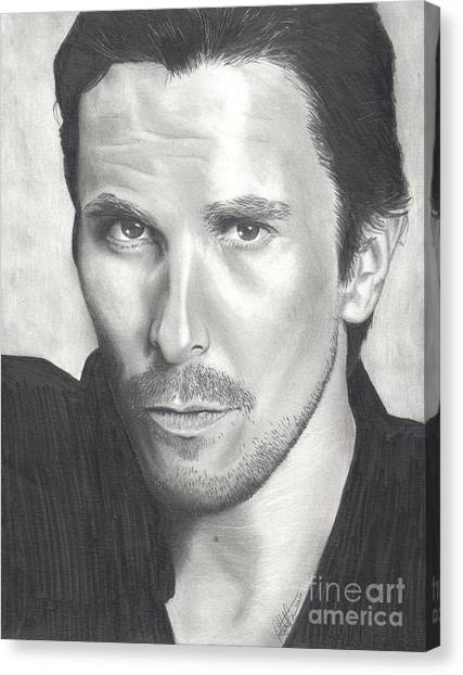 Christian Bale Canvas Print by Christian Conner