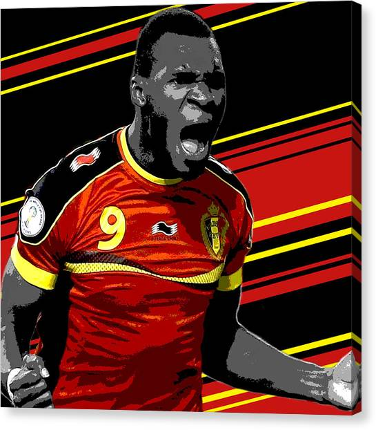Soccer Players Canvas Print - Christian Benteke Belgium Print by Pro Prints
