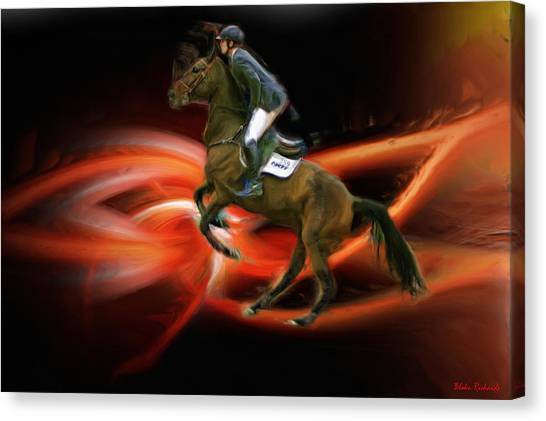 Christian Heineking On Horse Nkr Selena Canvas Print