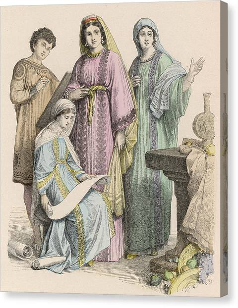 Early Christian Art Canvas Print - Christians From Western Europe  - Three by Mary Evans Picture Library