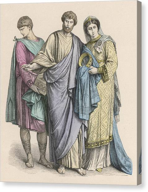Early Christian Art Canvas Print - Christians From Western Europe  - Two by Mary Evans Picture Library