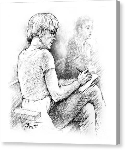 Christie Blatchford In Court Canvas Print