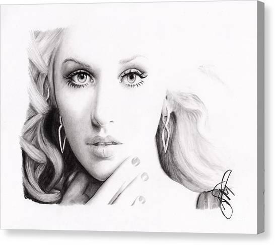 Christina Aguilera 2 Canvas Print by Rosalinda Markle