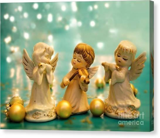 Christmas Angels 3 Canvas Print