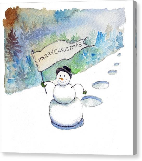 Christmas Announcement Canvas Print