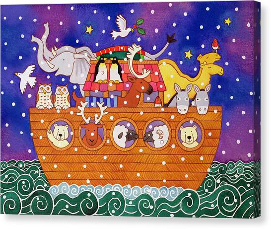 Old Testament Canvas Print - Christmas Ark by Cathy Baxter