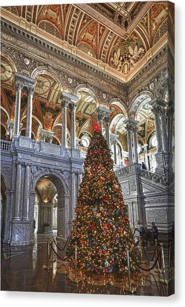 Christmas At The Library Of Congress Canvas Print