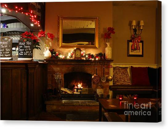 Christmas At The Pub Canvas Print