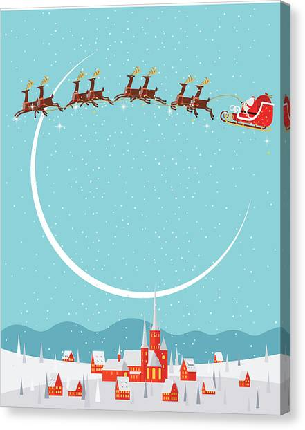 Christmas Background Canvas Print by Akindo