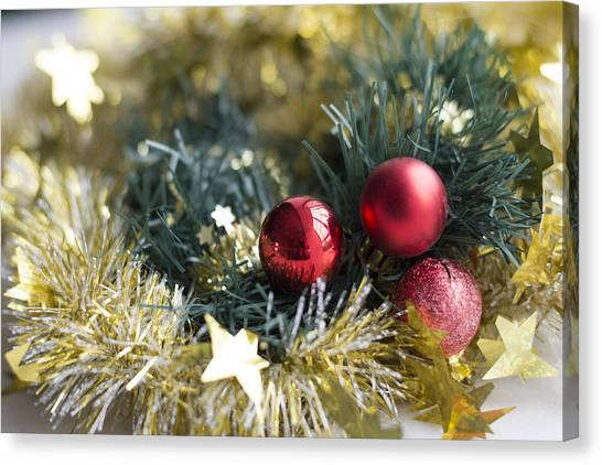 Canvas Print featuring the photograph Christmas Baubles by Jocelyn Friis