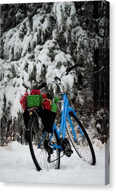 Christmas Bike Canvas Print